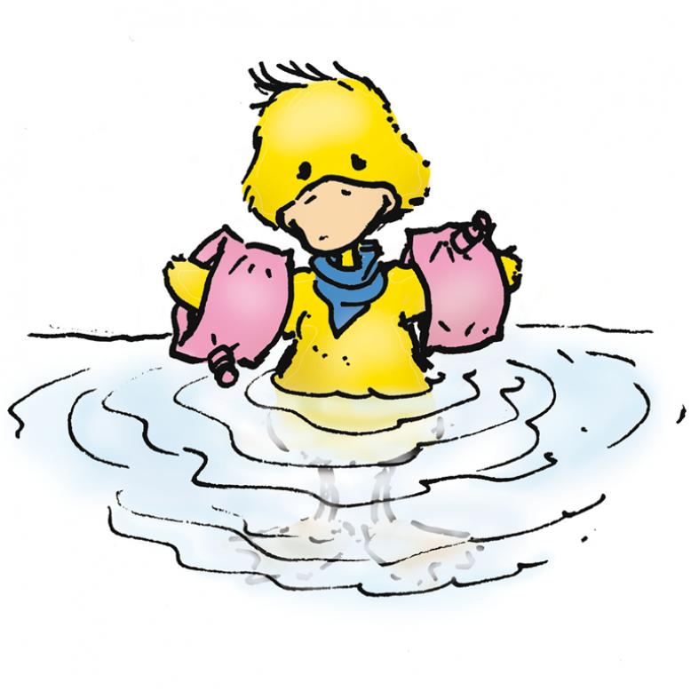 Bild von einer Ente im Wasser