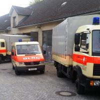 Fahrzeuge des DLRG Betreuungsdienstes
