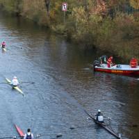 Gekentertes Ruderboot auf dem Hohenzollernkanal