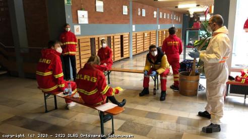 Team-Briefing in Stadtlauringen