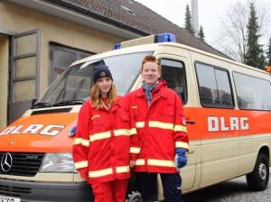 Helfer der DLRG ...