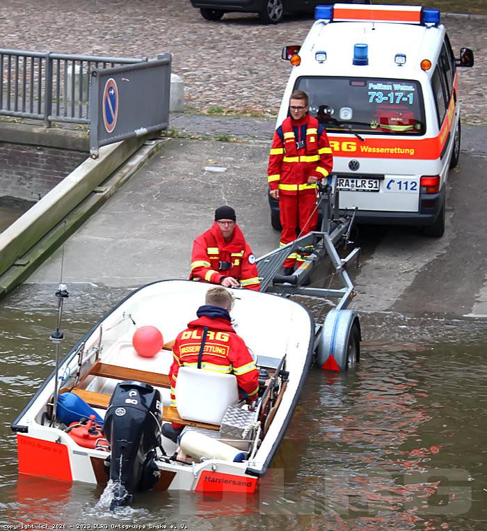 Rettungsboot Trailern