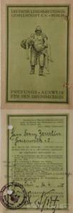 Grundschein aus Freienwalde a. O. (16. Juni 1925)