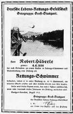 Die erste Urkunde 1913